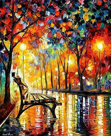 Kaliosy Peinture diamant 5D peinture de banc de parc sur la nuit pluvieuse  par numéro, kit de peinture avec diamants artistiques pour adultes,  décoration au point de croix: Amazon.ca: Maison et Cuisine