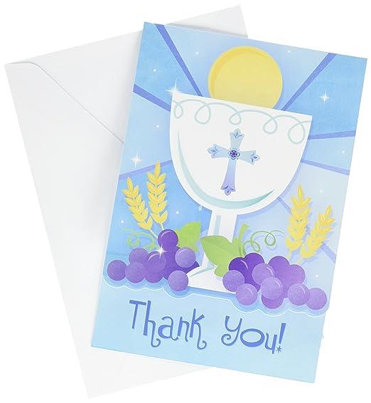 Tarjeta de Agradecimiento para Primera Comunión con Texto en ...