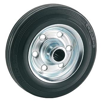 Dörner + Helmer 710172 Completo de goma rueda 125 x 37 x 15 mm, con