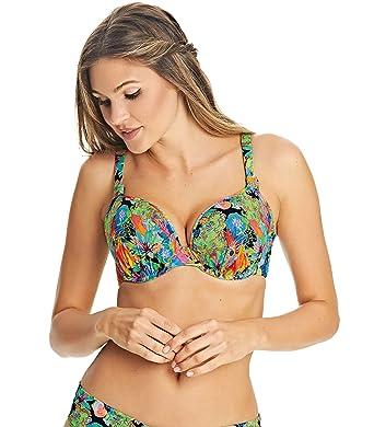 b3c9a5a6427c8 Amazon.com: Freya Island Girl Bandless Plunge Bikini Top US: Clothing