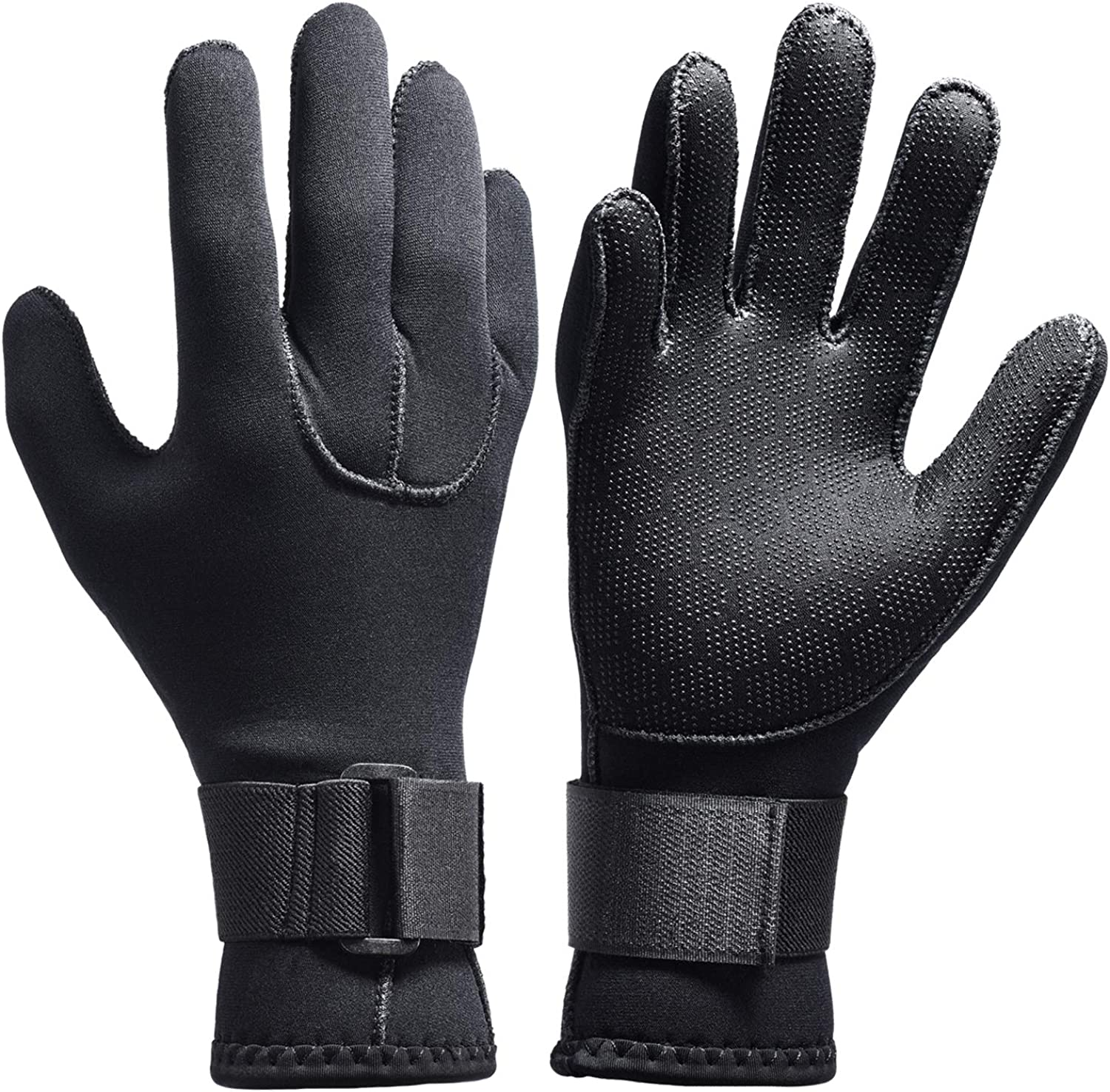 3mm - Black, M Pond and Aquarium Maintenance Boating Cleaning gutters with Elastic Wrist Band Dark Lightning Scuba Diving Gloves for Men and Women 3mm Neoprene for All Water Sports