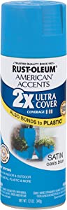 Rust-Oleum 284980 American Accents Ultra Cover 2x Satin, Each, Oasis Blue