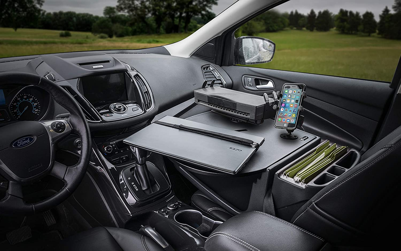 AutoExec AUE37000 RoadMaster Car Desk Realtree Edge Camouflage with Phone Mount