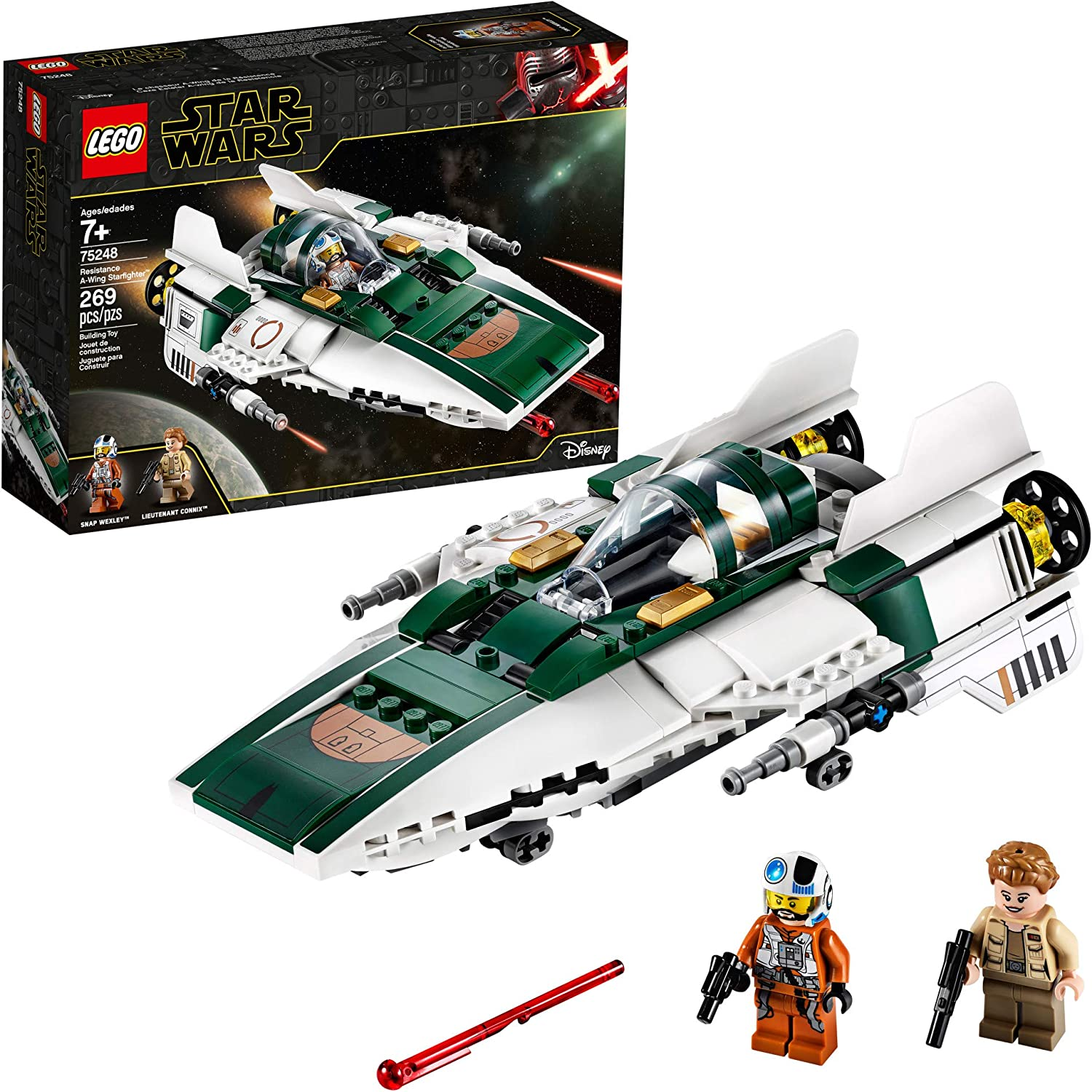 LEGO Star Wars: The Rise of Skywalker Resistance A-Wing Starfighter 75248 Advanced Collectible Starship Model Building Kit, New 2019 (269 Pieces)