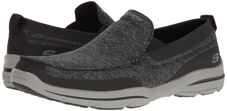 d2fc67e07af Skechers Men's Harper Moven Slip-on Loafer Black Gray 6.5 D(M) US: Buy  Online at Low Prices in India - Amazon.in