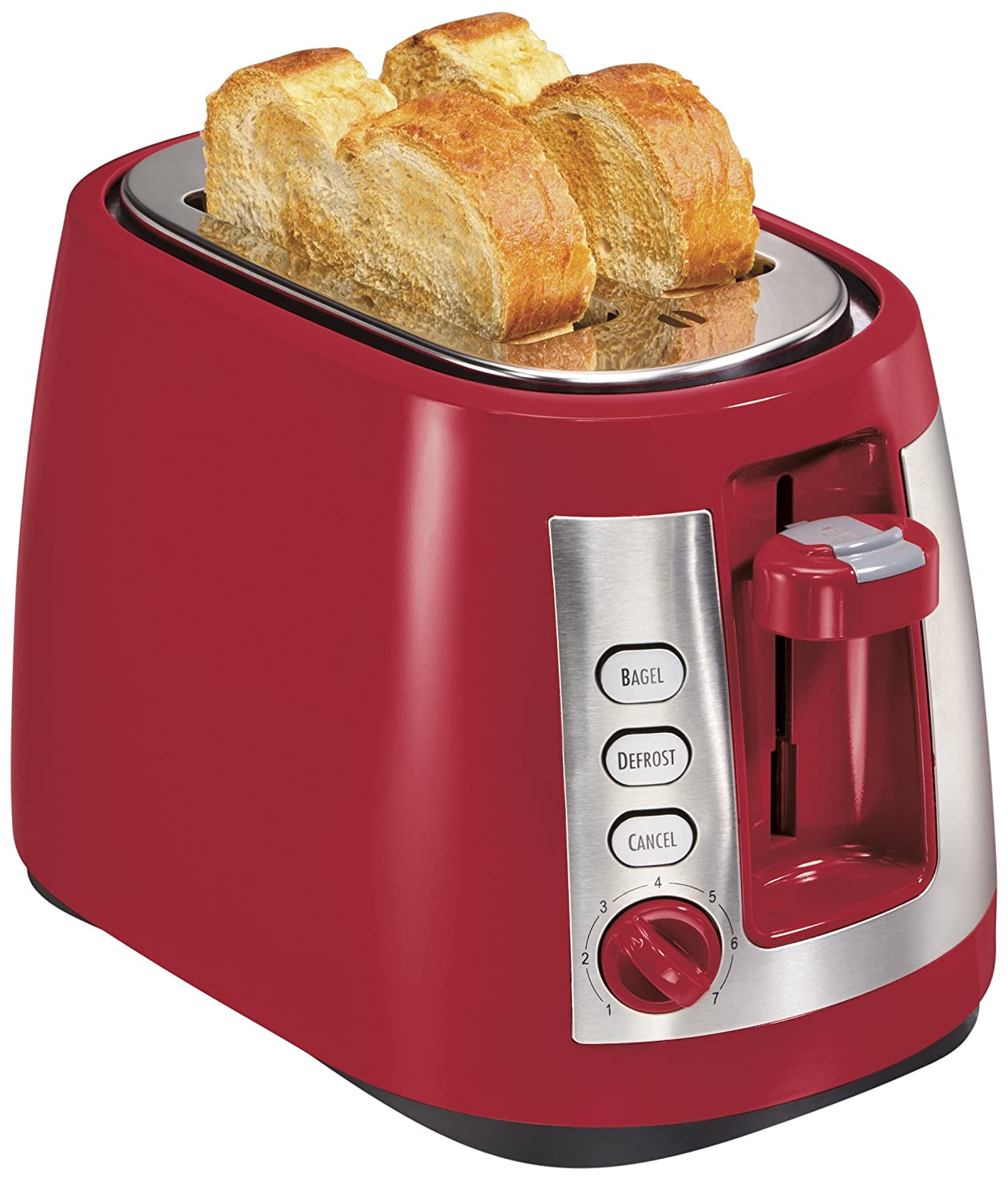 Hamilton Beach Ensemble Extra-Wide Slot 2-Slice Toaster, Red