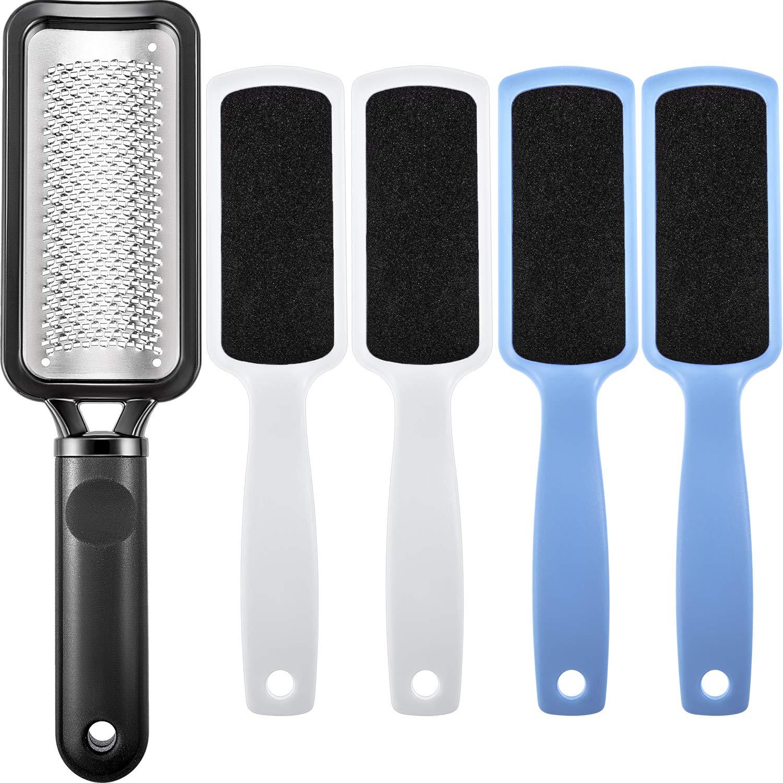 5 Pieces Callus Remover Colossal Pedicure Rasp Tools Foot File Foot Care Pedicure Kit to Remove Hard Skin Tatuo