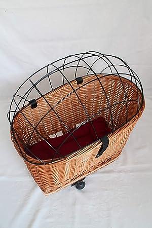 Hundefahrradkorb Fahrradkorb Hundekorb Hund Einkaufskorb mit Gitter Weide Kissen
