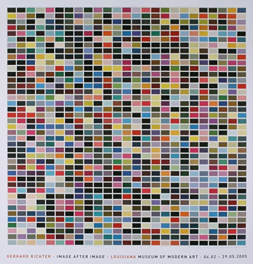 "GERHARD RICHTER 1025 Colors 1025 Farben 48/"" x 46/"" Poster 2005 Contemporary"