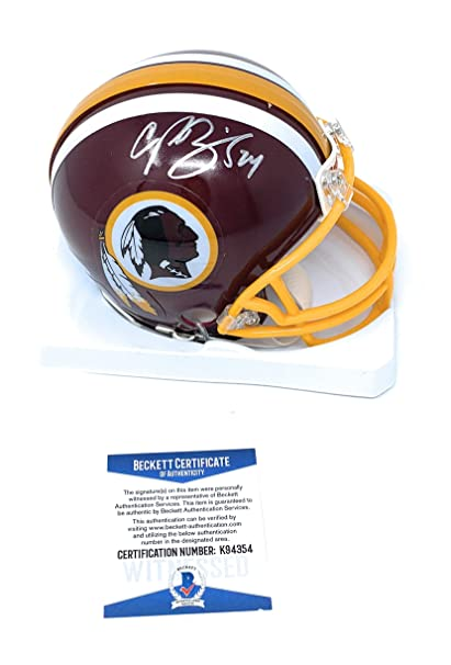 Champ Bailey Washington Redskins Signed Autograph Mini Helmet Beckett  Witnessed Certified 0ac937578