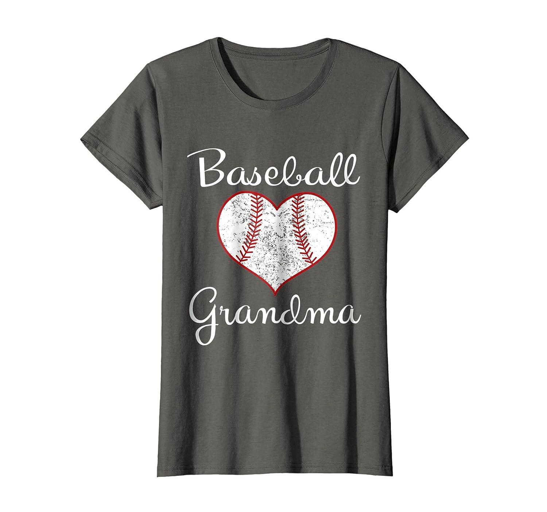 Womens Vintage Baseball Grandma T-Shirt-Newstyleth