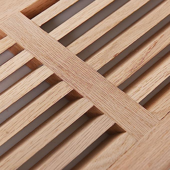 Welland madera registro, roble blanco retorno de aire frío rejilla ...