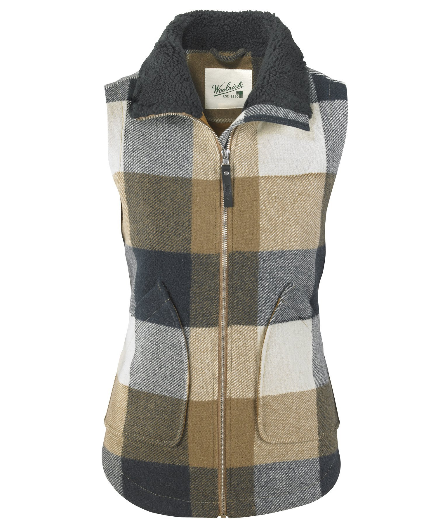 Woolrich Women's Giant Buffalo Wool Vest Ii, Wheat, XS