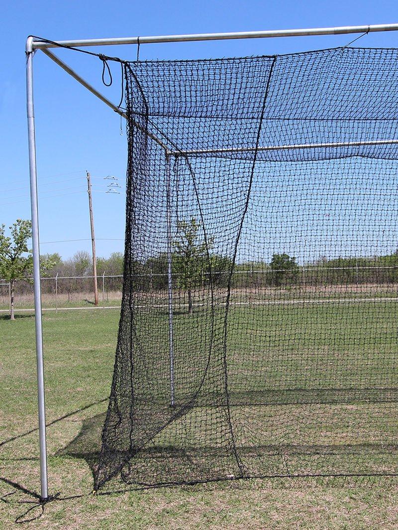 10' x 12' x 40' #24 HDPE (42PLY) with Door Baseball Softball Batting Cage net by Jones Sports