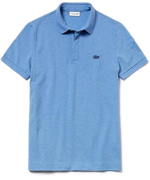 3a870ea1dd Lacoste Men's Regular Fit Paris Polo Shirt Blue: Amazon.co.uk: Clothing