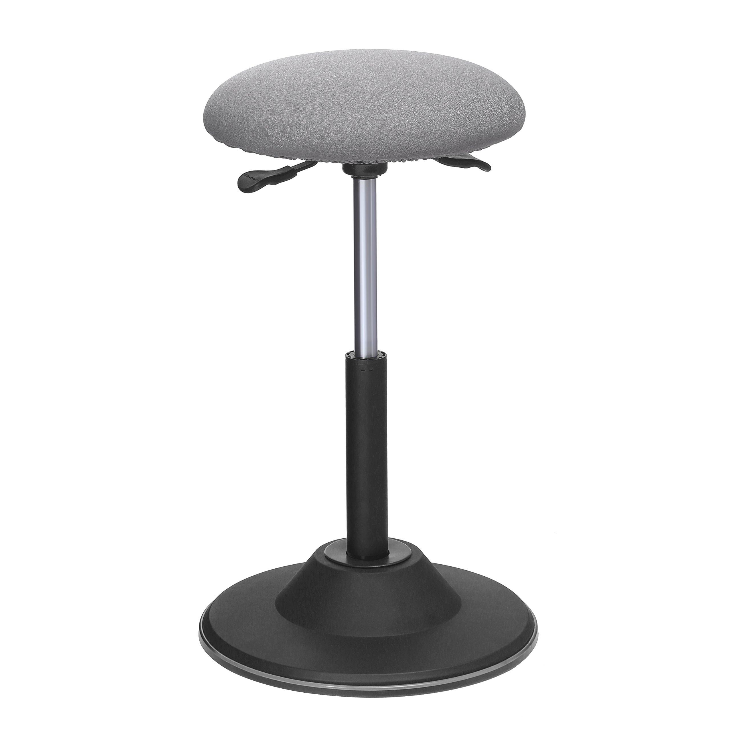 SONGMICS Standing Desk Chair, Adjustable Height Ergonomic Standing Stool, 360° Swivel Sitting Balance Chair, Gray UOSC01GY
