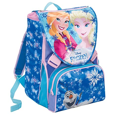 nuovo concetto b819f 45e04 Zaino Scuola Estensibile Disney FROZEN , MAGIC LIGHTS , Blu , 28 Lt , Led  luminosi + Gadget inlcuso!