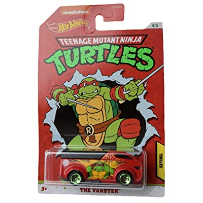 Hot Wheels TMNT Raphael The Vanster 4/5, red: Toys & Games