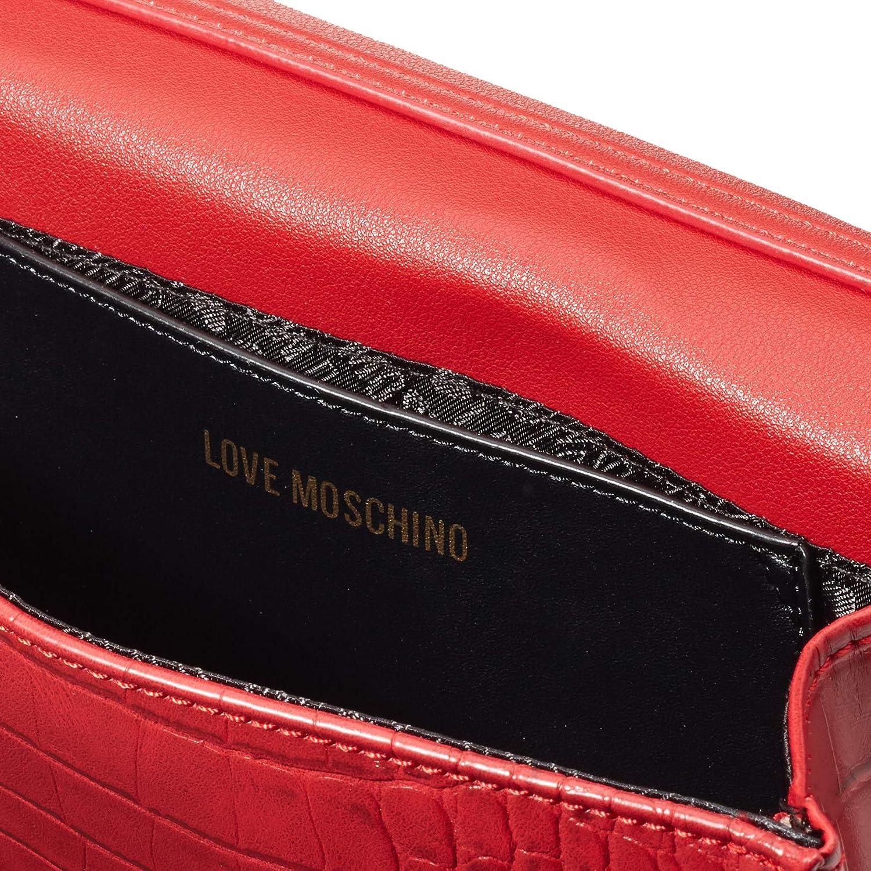 Love Moschino dam Borsa Croco Pu mode, normal röd