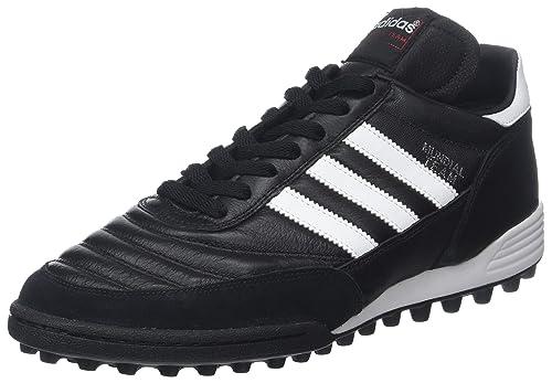huge selection of e9b1d 5666e Adidas Performance Mundial Tacos de fútbol para césped, Negro Blanco, 10 D(