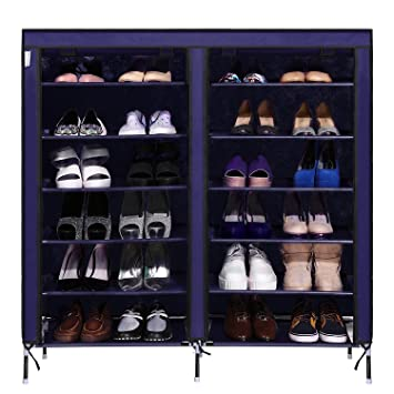 76d112b55db82 cheesea desmontable zapatero armario para 30 pares de zapatos organizador  con cubierta de tela para zapatos