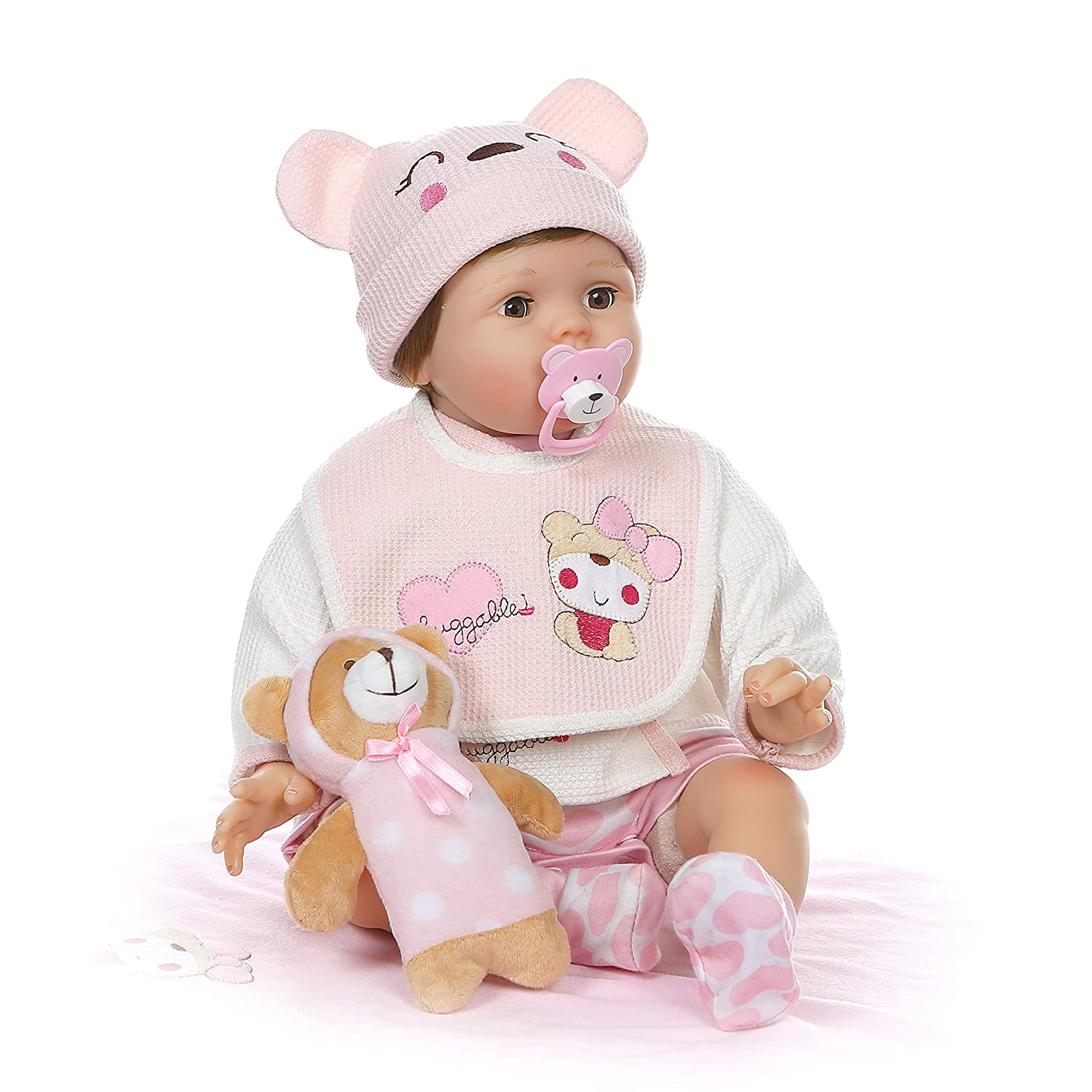 Silicone Lifelike Toy Reborn Toddler Baby Doll Artificial Girl 22 Inch Vinyl T2