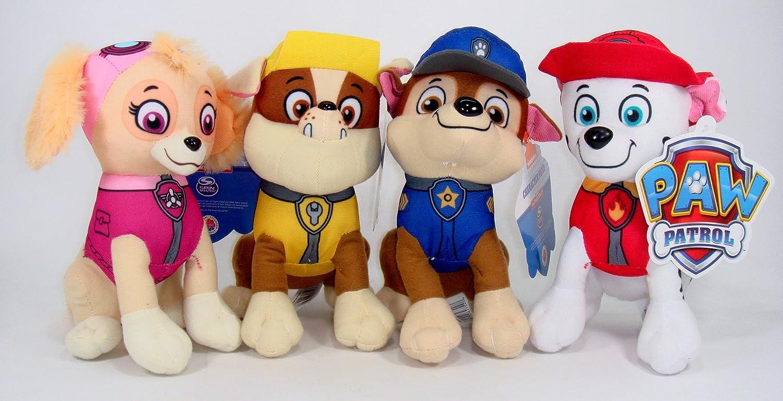 Nickelodeon Paw Patrol Plush Pup Pal 4 Pcs Character Plush Set Marshall Chase Rubble Skye 8 Plush Doll