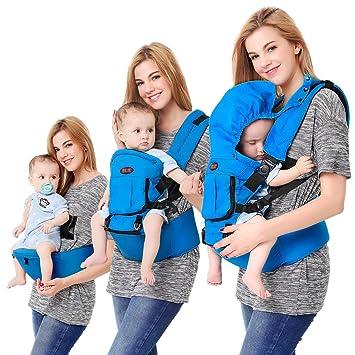 Porte Bébé Dorsal Multifonctionnel 4 en 1 le Tissu Sangle Confortable  Respirable Réglable pour Nouveau- 76d454e158b