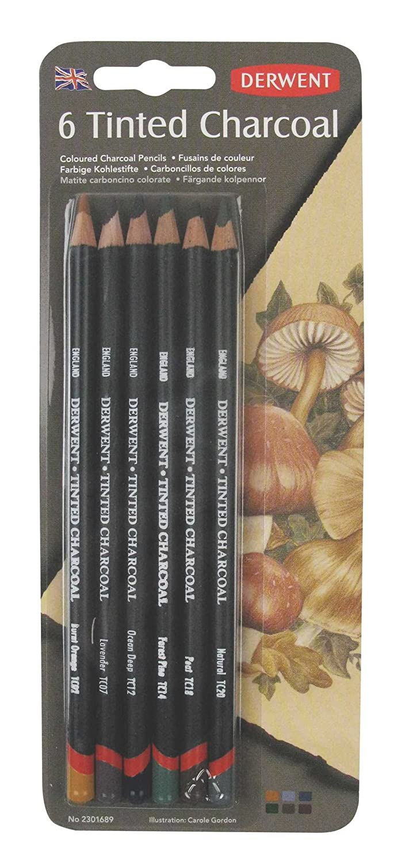 6 Lapices Carboncillos De Colores Derwent (xmp)