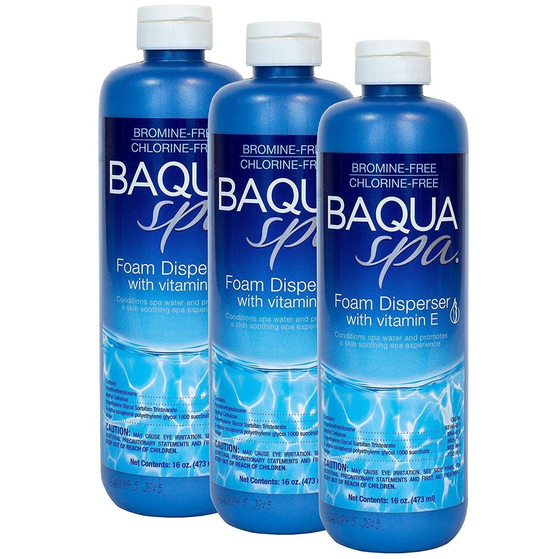 Baqua Spa Foam Disperser with Vitamin E (1 pt) (3 Pack) by Baqua Spa