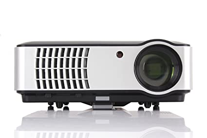 Smart Android 6.0 Projector, Gzunelic 4000 lumens WiFi 1080p Video Projector, LCD LED Full HD Theater Proyector with Bluetooth, Adopt 6 Primary Colors ...