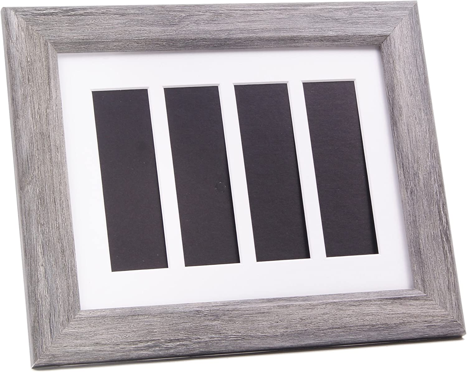 Creativepf Pbw9x11dw W Driftwood Wedding Photo Booth Frame Holds 4 2x6 With White Mat To Display Cherish And Preserve Your Wedding Memories