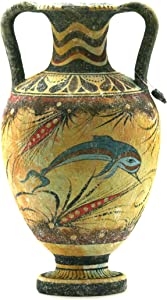 Minoan Vase Pottery Painting Dolphin Ancient Greek Crete Ceramic Knossos