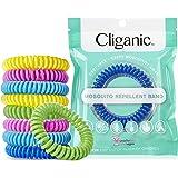 Cliganic 10 Pack Mosquito Repellent Bracelets, DEET-Free Waterproof Bands