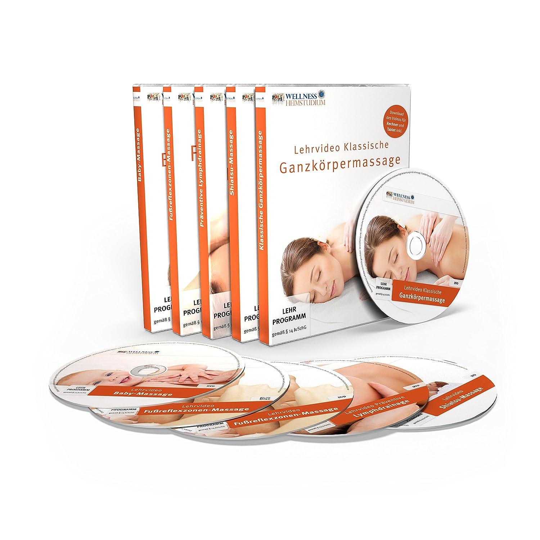 Profi MASSAGE & WELLNESS Heimstudium Serie 1 : 5 DVDs + 1 Handbuch ...