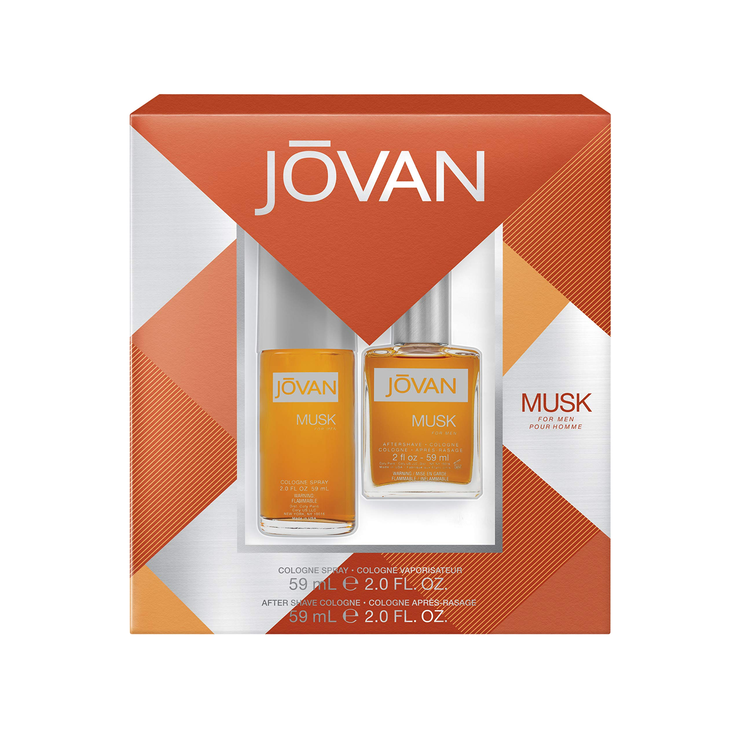 Jovan Jovan Musk For Men 2-Piece Gift Set With 2-Ounce Cologne Spray And 2-Ounce Aftershave Cologne, 0.98105710000000002 Pounds by Jovan