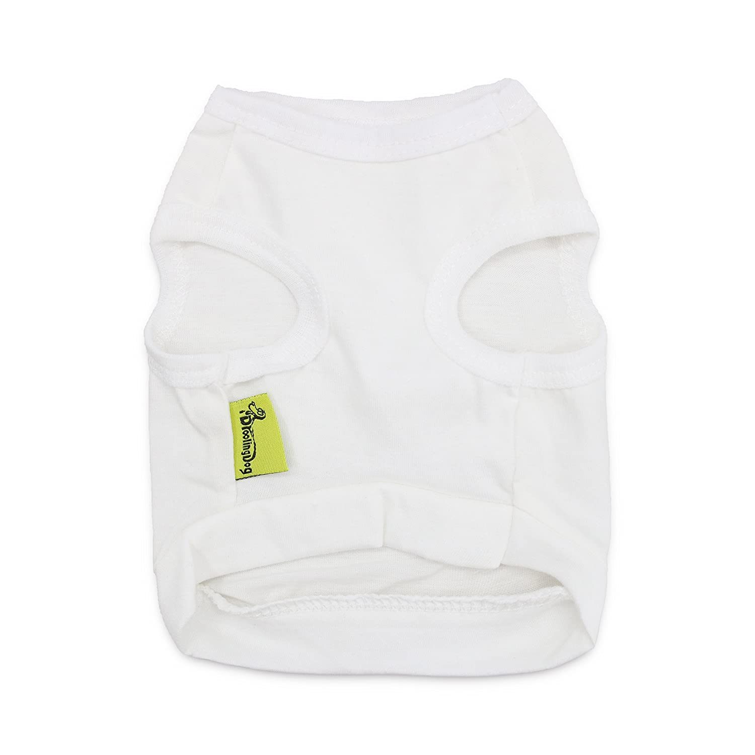 19375f776043a Amazon.com   DroolingDog Pet Dog Clothes White Dog Shirts Puppy T Shirt for  Small Dogs