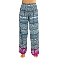 PIYOGA - Women's Yoga Athleisure Flare Trousers, Relaxed Loose Boutique Resort and Bohemian Travel Wear (Stretches from UK Size 4-16), Flare Bottom