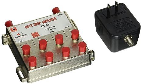 The 8 best antennas direct cda8 8 way tv catv distribution amplifier