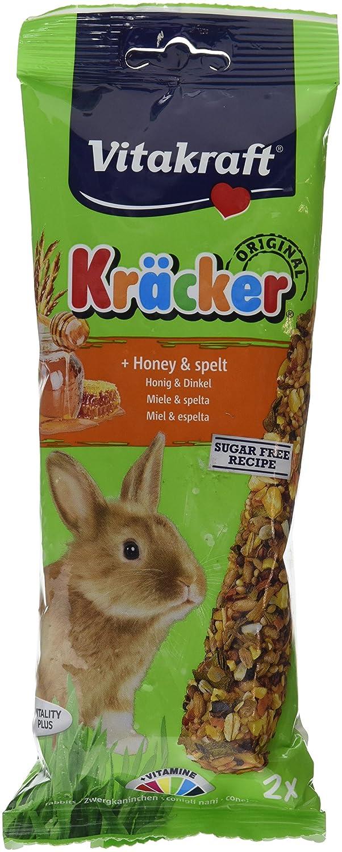 Vitakraft KrÁµckerRabbit Honey-Spelt 2 Pack (Pack of 5)