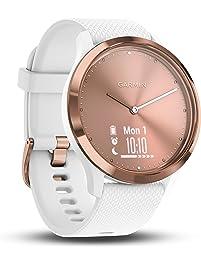 Garmin Vivomove HR Sport Smartwatch, Rose Gold, S/M, 010-01850-02