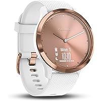 Garmin vivomove HR Hybrid Smart Watch (Small/Medium) - Rose-Gold with White Band