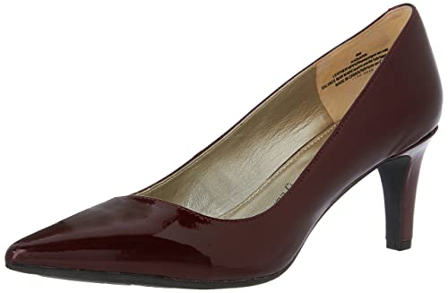 Anne Klein Women's Barb Dress Pumps, Wine Patent, ...
