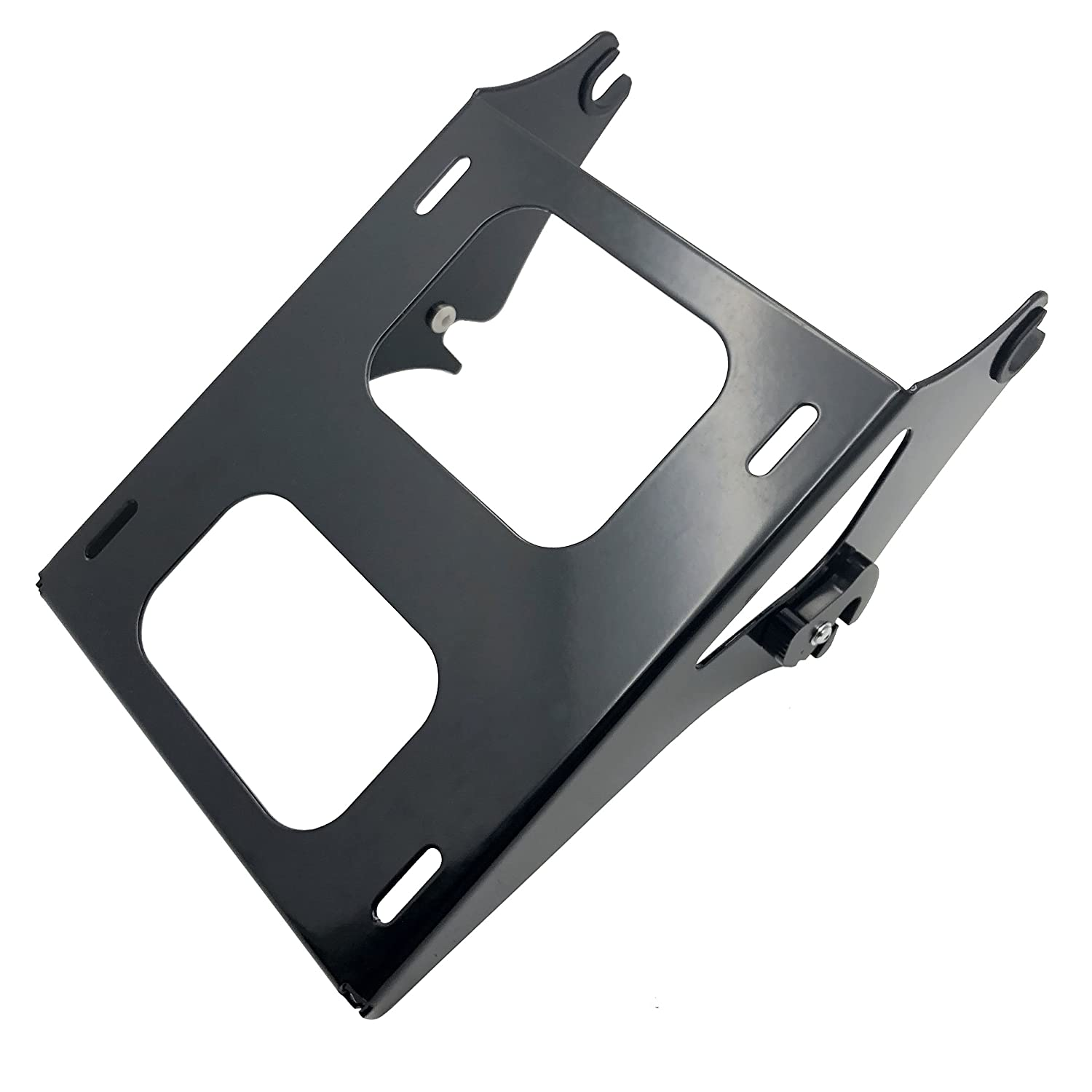 XKMT Black Detachable 2 Two Up Tour Pak Pack Mounting Luggage Rack For Harley Touring Road King Street Glide Road Glide 2014-2016