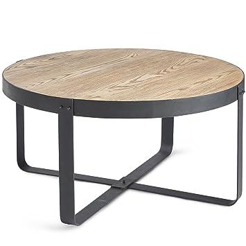 metal top coffee table. VonHaus Outdoor Waterproof Coffee Table - MgO Top With Oak Effect \u0026 Black Metal