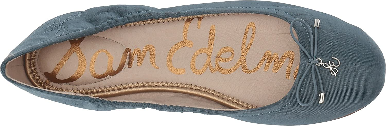 Sam Edelman Women's Felicia Ballet Flat B075ZY2X3D 6 C/D US|Blue Shadow Silk Dupioni