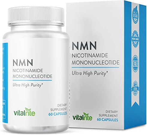 VitalRite - NMN Supplement (Nicotinamide Mononucleotide) 250mg Per Serving, NAD+ Precursor to Riboside for Anti-Aging and Mitochondria Support, Increase Cellular Health