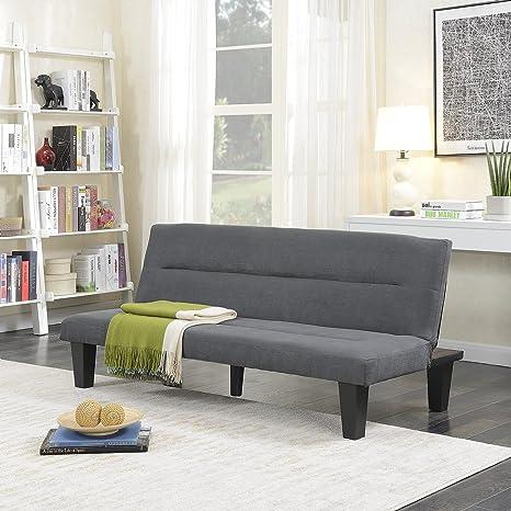Admirable Belleze Futon Sofa Bed Furniture Sleeper Adjustable Lounger Convertible Comfort Low Seat Microfiber W Wooden Legs Gray Frankydiablos Diy Chair Ideas Frankydiabloscom