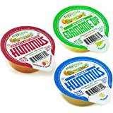 Veggicopia Dips, Variety Pack in 2.5oz Single Serving Cups (Pack of 12), No Refrigeration Required, Includes Original Hummus, Roasted Red Pepper Hummus, Edamame Dip