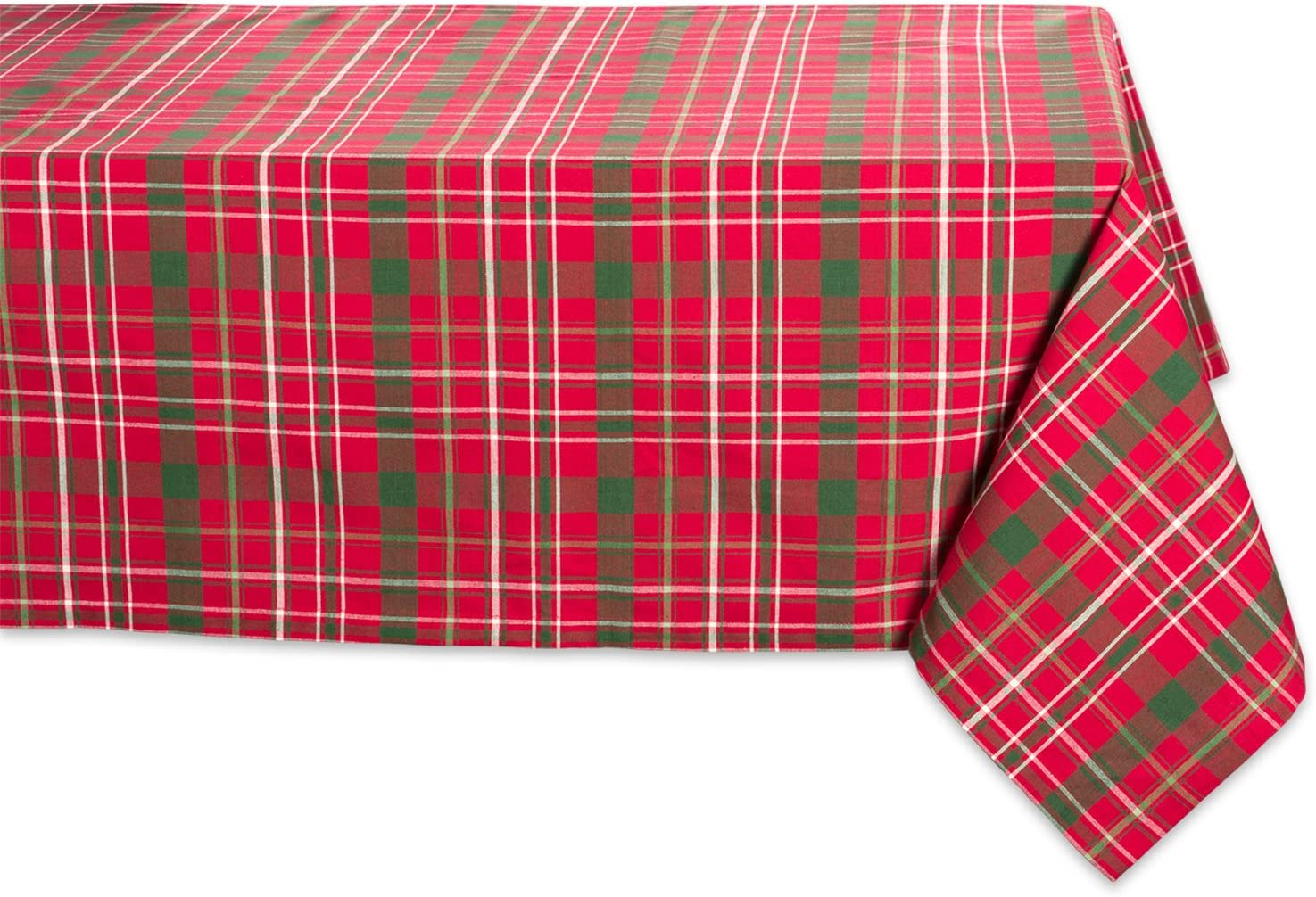 Tartan Holly Plaid Square Tablecloth 100 Cotton With 1 2 Hem For Holiday Family Gatherings Christmas Dinner 60x120 Seats 10 To 12 Home Kitchen